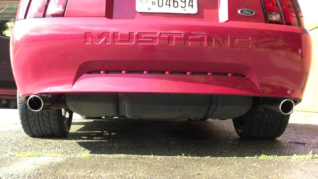 2000 mustang v6 true dual exhaust with