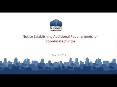 Requirements for Coordinated Entry Systems Webinar