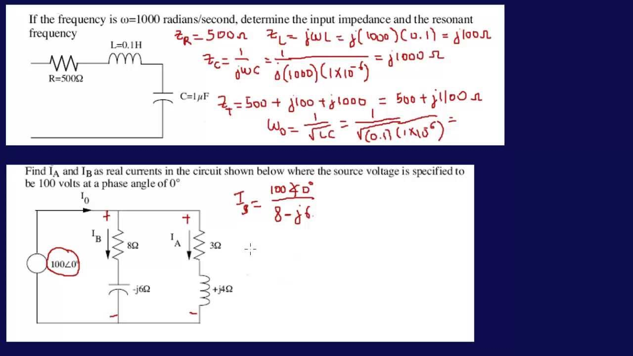 Input Impedances Resonant Frequency-FE Exam Review - YouTube