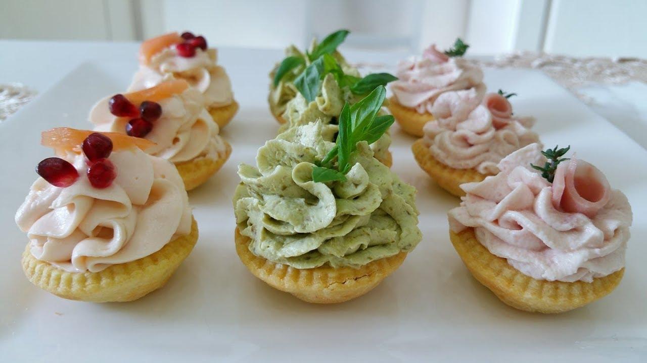 Tartinetartellette Salate Ai Tre Saporiantipasto Di Natale Youtube