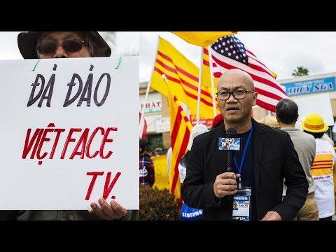 Little Saigon: Biểu tình phản đối Vietface TV cộng tác với TH Vĩnh Long - P1
