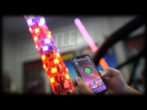 How To Install SuperATV's 5' LED Whip Lights | Light Up The Night | UTV Whip Lights