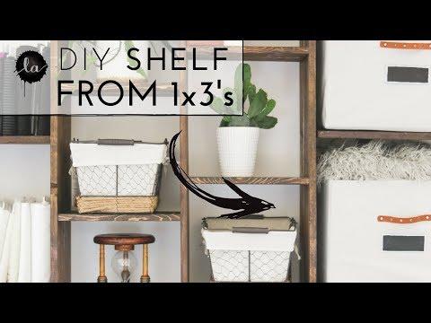 Tutorial - DIY Custom Wood Shelf - How to make - Built in Shelves