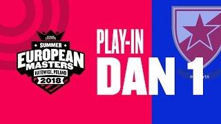 EU Masters Sezona 2 - CZV vs Gentside | CZV vs NiP - Play-In Dan 1