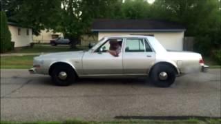 Dodge Diplomat Police Car Burnout
