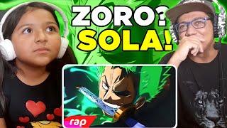 MINHA IRMÃ DE 7 ANOS REAGINDO AO Rap do Zoro - O MAIOR ESPADACHIM DO MUNDO | NERD HITS | 7 Minutoz