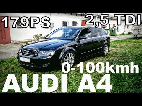 Audi A4 2,5 TDI 0-100 0-140 kmh B6 179PS Quattro BESCHLEUNIGUNG DRAG TEST