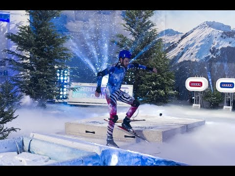 Jack Whitehall ski fail on A League Of Their Own