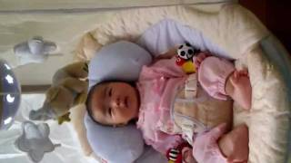 Baby Vivi &the  Fisher Price Starlight Papasan Cradle Swing [mommymd]