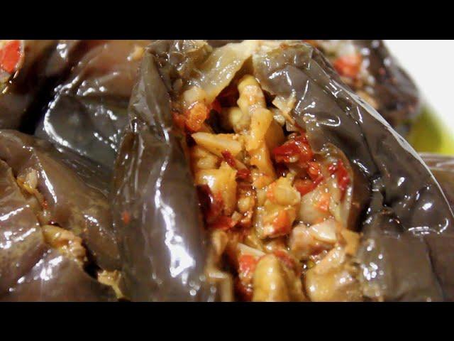 طريقة سهلة لعمل المكدوس الشامي الأصلي في البيت How to Make Makdous
