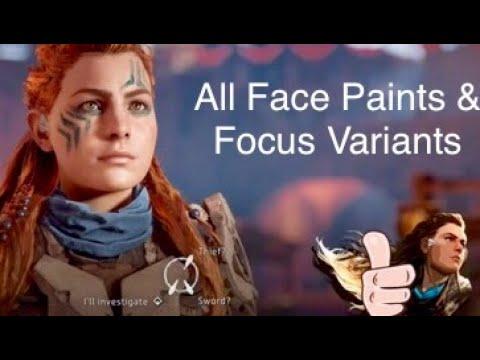 Horizon Zero Dawn Face Paints