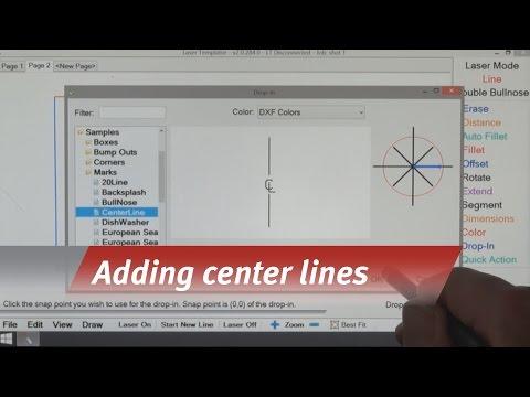 Laser Templator - Adding Center Lines