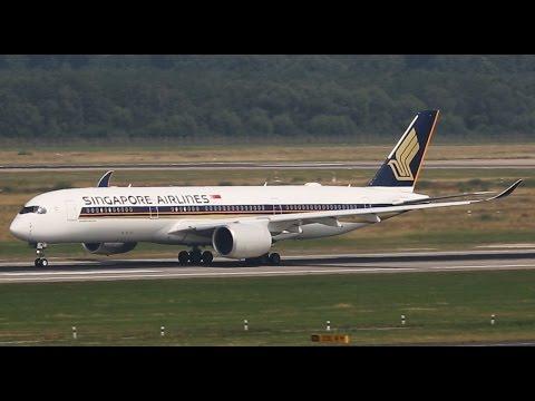 First SINGAPORE Airbus A350 Landing at Düsseldorf