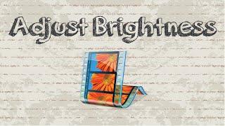 How to adjust video brightness in Windows Movie Maker