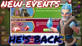 CLASH OF CLANS - WINTER UPDATE - ICE WIZARD - NEW EVENTS