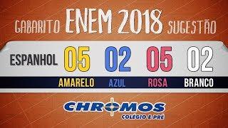 Gabarito ENEM 2018 CHROMOS - Prova Amarela: Questão 05 | Espanhol