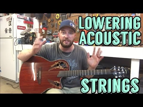 Lowering Acoustic Guitar String Action | Ovation Celebrity