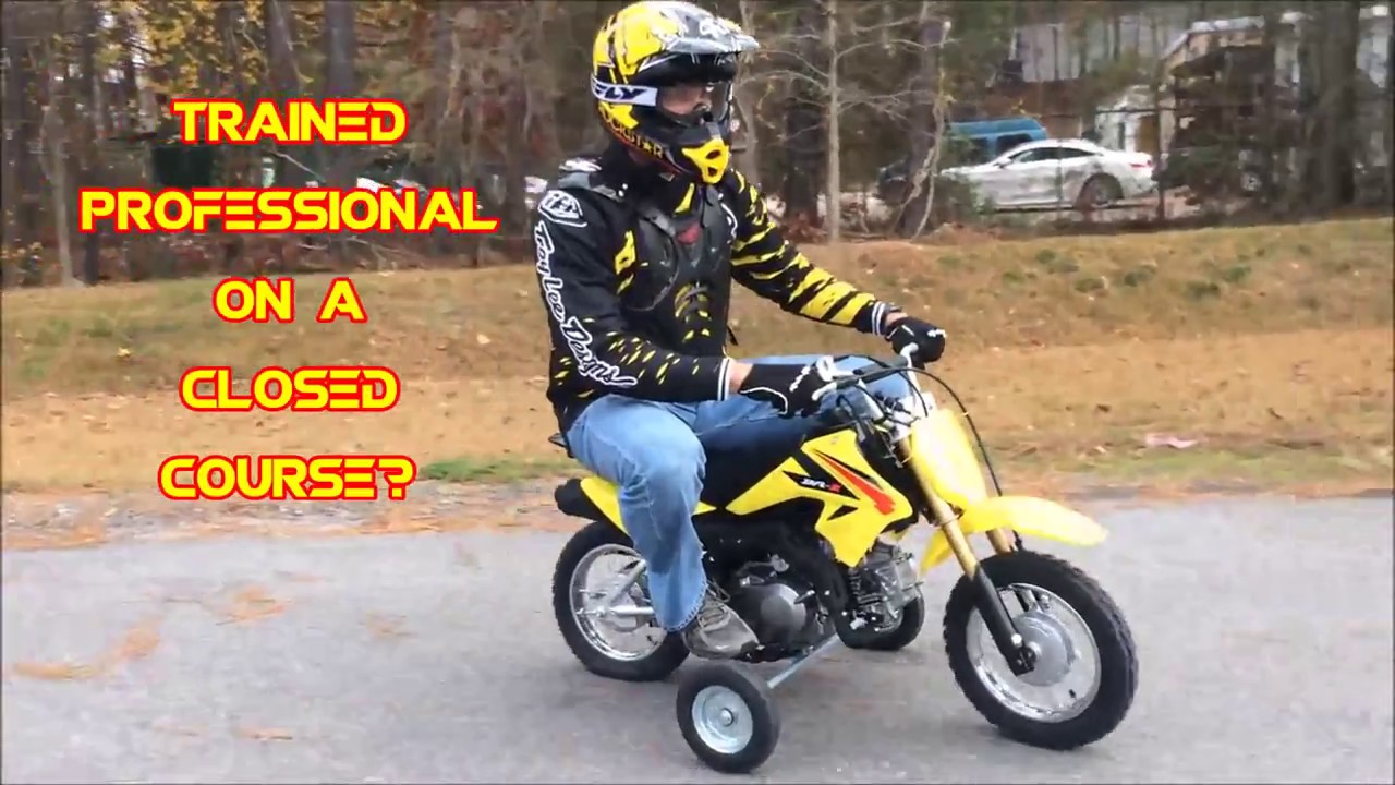 bike review 2017 suzuki dr z 70 with training wheels youtube. Black Bedroom Furniture Sets. Home Design Ideas
