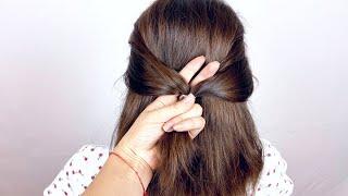Прическа на Короткие Волосы на Каждый день Quick Easy Hairstyle