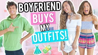 BOYFRIEND BUYS OUTFITS FOR GIRLFRIEND! Shopping Challenge 2017!