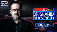 Live With Dr Shahid Masood - 6-July-2017 - News One