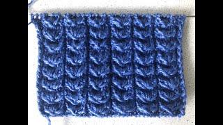 Урок 14 Гусиные лапки. Подробный. Уроки вязания спицами для начинающих с нуля от Счастливой Улитки