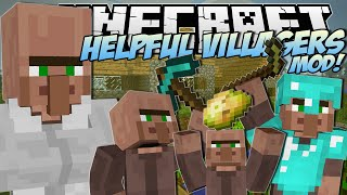 Minecraft   HELPFUL VILLAGERS MOD! (Create a Villager Army!)   Mod Showcase