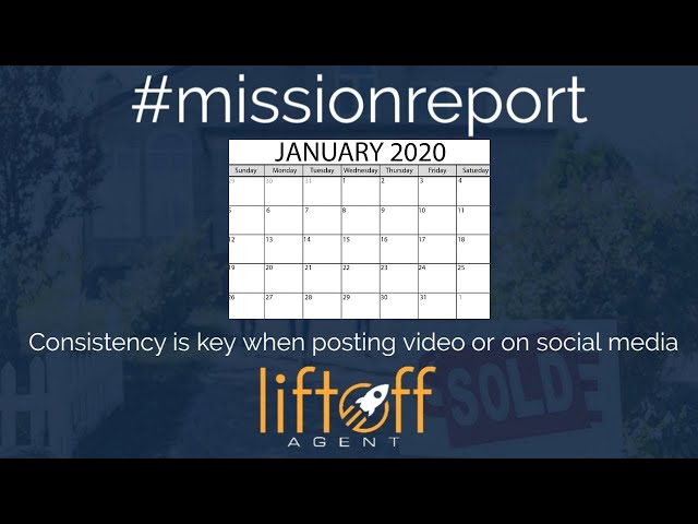 #missionreport -  Consistency is key when posting video or on social media!