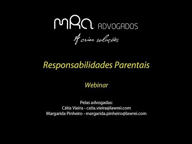 Responsabilidades Parentais - Webinar