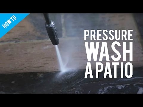 How To Clean A Patio With A Pressure Washer