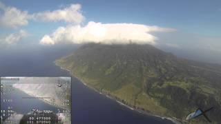 FPV video of Skywalker RC plane near Basco, Batanes, Philippines