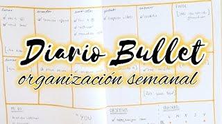 Organización semanal en el #DiarioBullet | Christine Hug