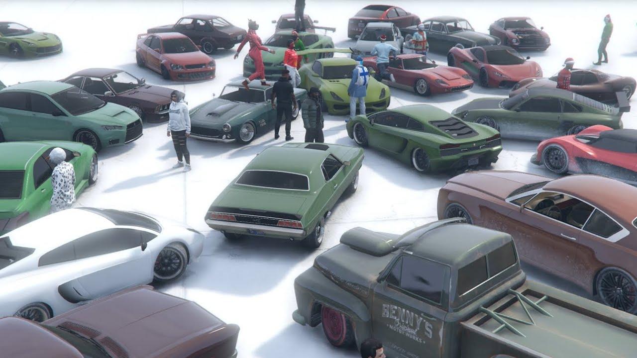 GTA 5 Christmas Car Meet Special   YouTube