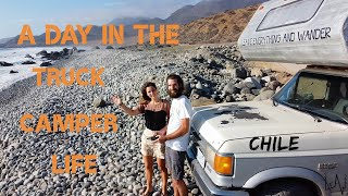 A Real TRUCK CAMPER LIFE day in Chile // Eating with Italian friends on the road