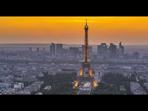 Sunset with the the Eiffel tower from the Montparnasse tower
