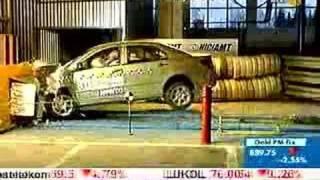 BYD F3 EuroNCAP crash-test.  RBC-TV broadcast.