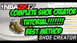 nba 2k17   complete shoe creator tutorial