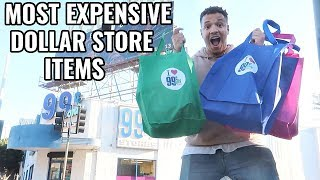 BUYING The Most EXPENSIVE ITEMS at The DOLLAR STORE (You Won