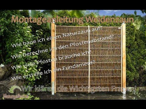 Aufbauanleitung - Montage Weidenzaun