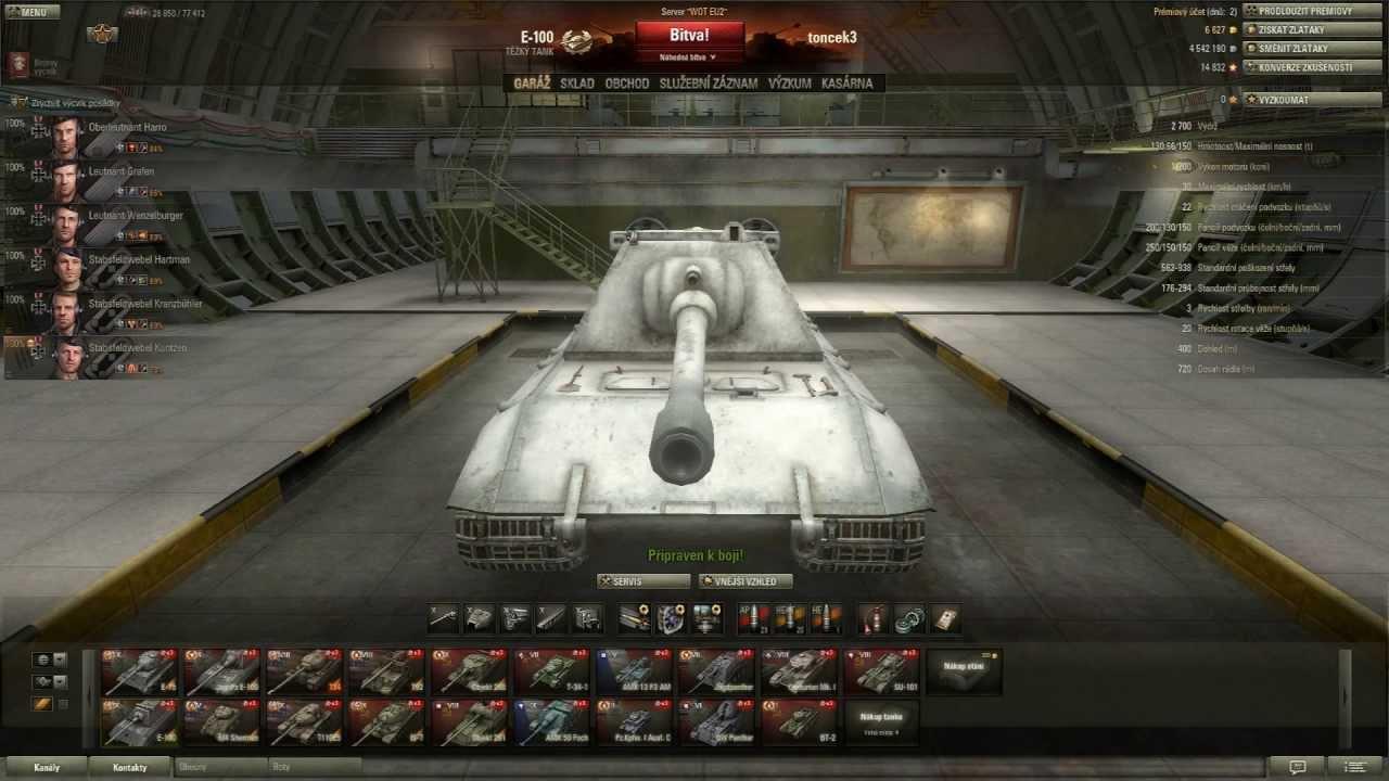 Download World of tanks CZ - E-100
