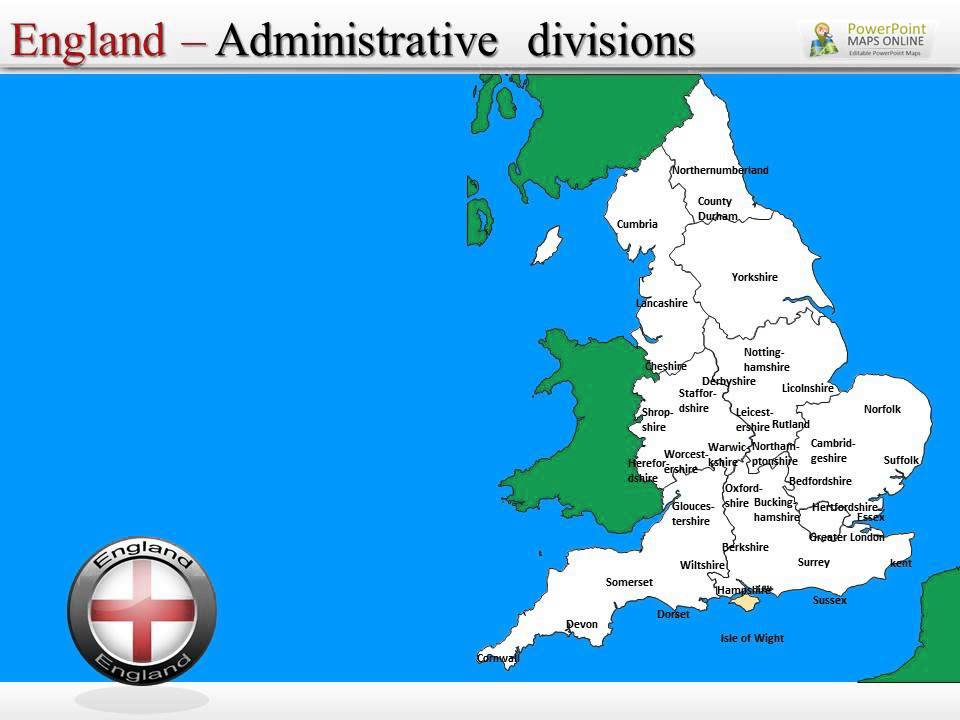 england ppt presentation map youtube