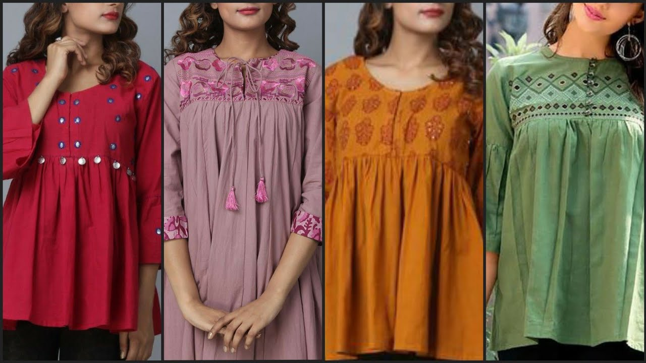 Outstanding and Classy summer daily work wear Tunic Top and short shirts designs Idea's