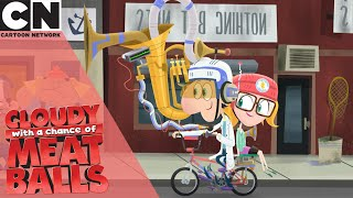 Cloudy With A Chance of Meatballs | How To Ride A Bike  | Cartoon Network UK