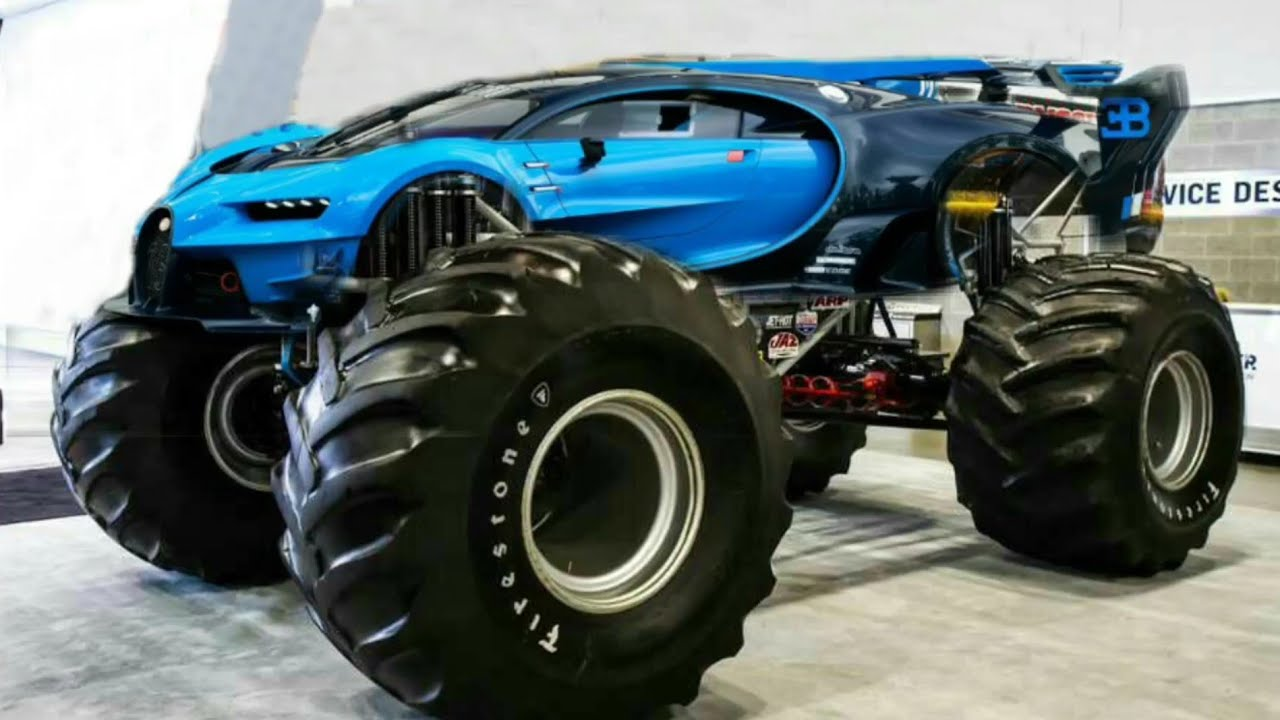 Modified Bugatti Monster Car Photoshop Youtube