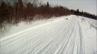 E-Maxx brushless on snow!!