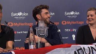 Duncan Laurence laat Songfestival-trofee nooit meer los