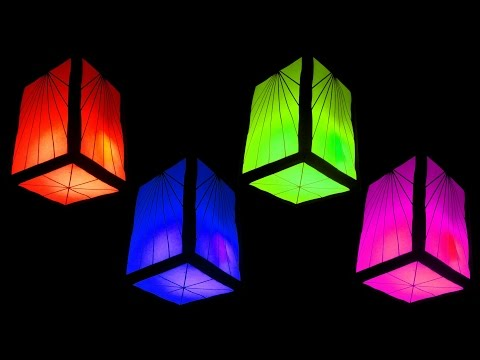 How to Make Fancy Paper Lantern Cube (Christmas and Home Decorating Crafts) - HD
