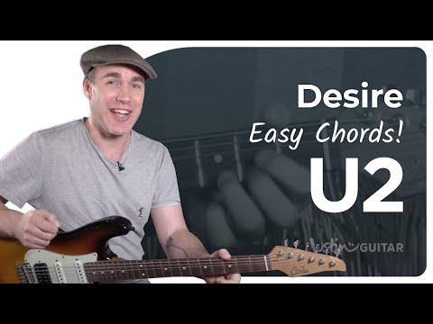 Desire - U2 - Easy Beginner Guitar Song Lesson Tutorial (BS-221)