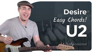 Desire - U2 - Easy Beginner Guitar Song Lesson Tutorial (BS-221)