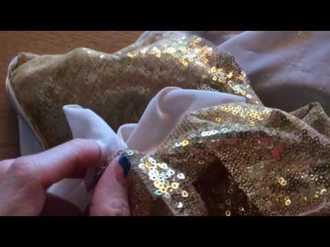 Как называется блестящая ткань на платье